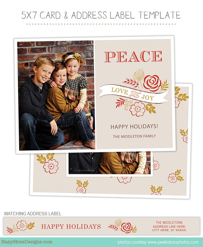 Christmas Holiday Card Photoshop Templates For Photographers Photographer Photography C Holiday Card Template Unique Christmas Cards Christmas Holiday Cards