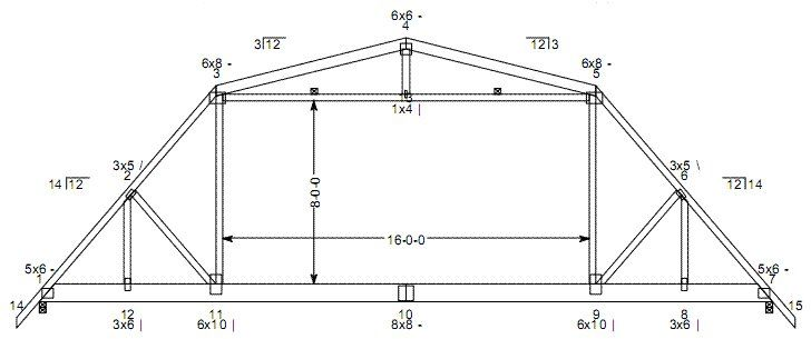 Shed Plans 20 X 30 Acrylic Print Gambrel Roof Pole Barn Trusses Roof Truss Design