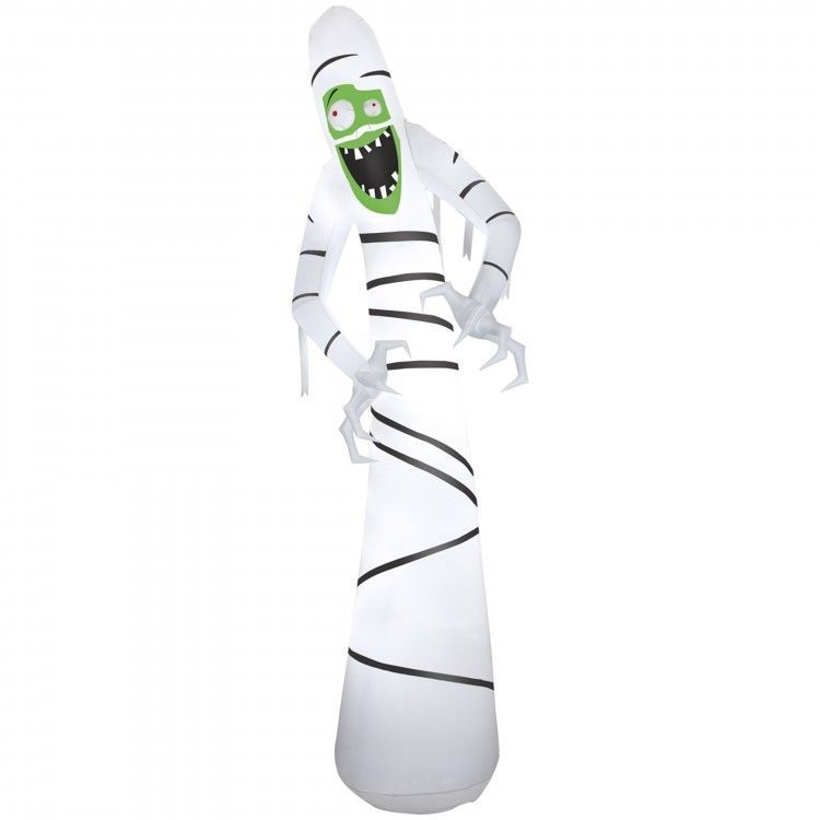 Skinny Mummy Inflatable Halloween Yard Decor Spooky Holiday Fun 12 - halloween club decorations