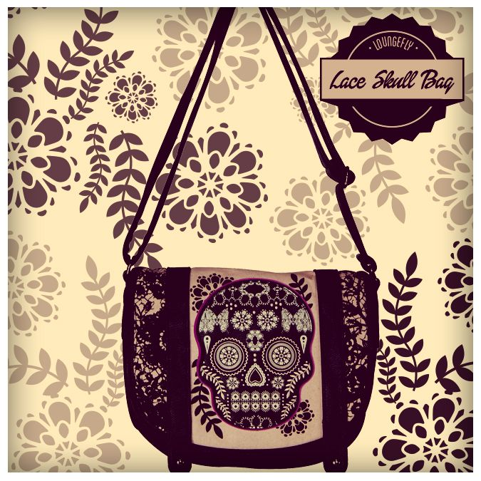 Make your outfit look bad to the bone with a Loungefly Lace Skull Bag.http://www.loungefly.com/brands/loungefly/loungefly-lace-skull-with-fuschia-crossbody-bag.html