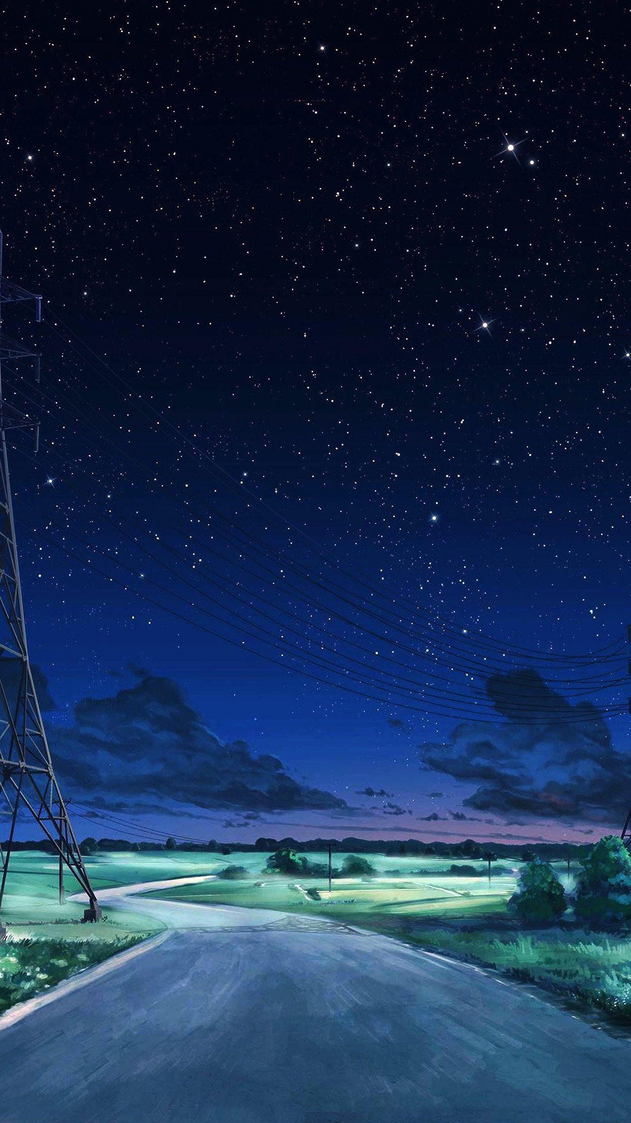 Image Result For Anime Night Sky Night Sky Wallpaper Sky Anime