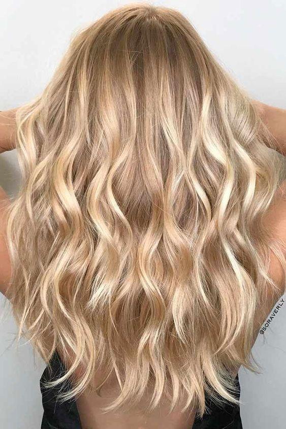 blonde hairstyle; blonde hair shades; blonde hair balayage; rose gold hairstyle.