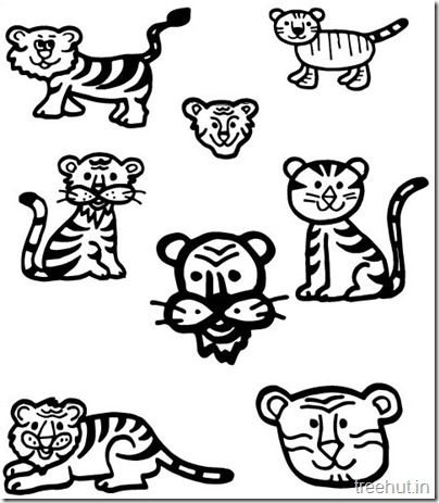 Tiger And Tiger Face Coloring Pages Tiger Face Tiger Face