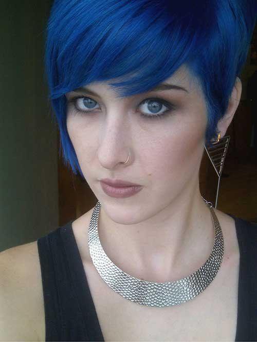 blue pixie cut 2019 hair