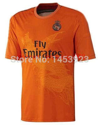 Find More Sports Jerseys Information About 2014 Rushed Real Madrid Orange Dragon The Third Goalkeeper Short Football Football Jerseys Soccer Jersey Goalkeeper