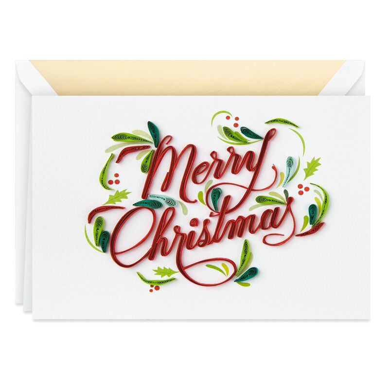Merry Christmas Frameable Art Christmas Card