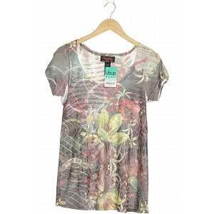 Custo Barcelona Damen T-Shirt grau Baumwolle Synthetik INT S