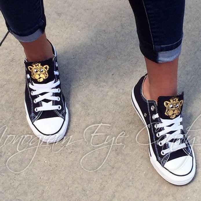 Customized Converse Sneakers MIZZOU Edition (Mustard)