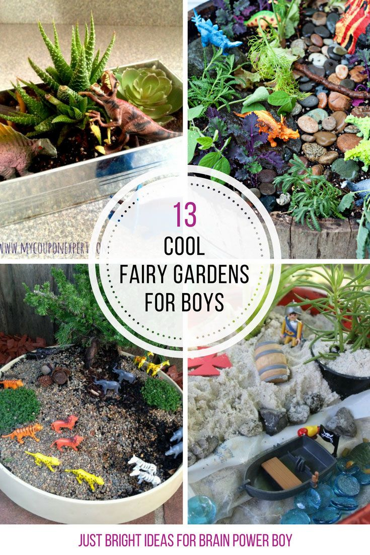 Gnome In Garden: 13 Cool Fairy Gardens For Boys To Make! They Are Going To