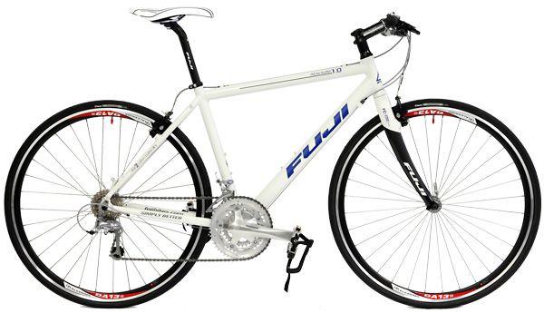 New Fuji Absolute 1 0 Flat Bar Hybrid Road Bike   Hybrid