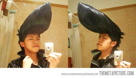 Hair Gel Level Asian Hair Humor Asian Hair Johnny Bravo