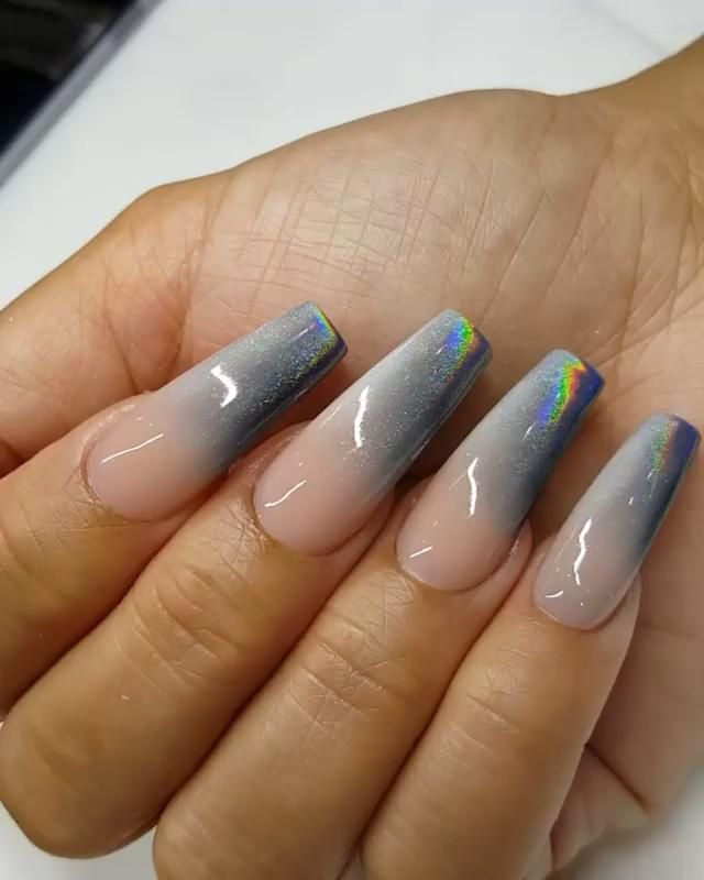 Ombré Milkyway Nails