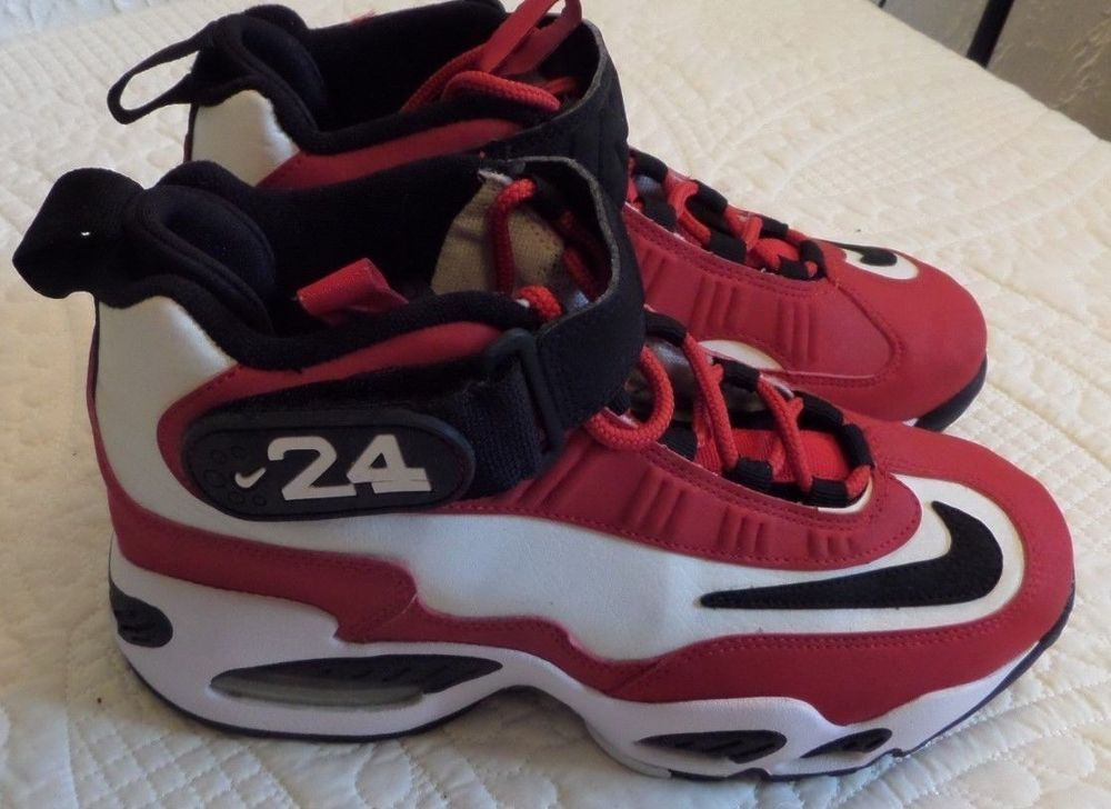 pretty nice 91401 8c6c6 EUC NIKE AIR GRIFFEY MAX 1 Red White Black 437353-100 SHOES Youth SZ 5.5 M   24  Nike  AthleticAirGriffeyMax1