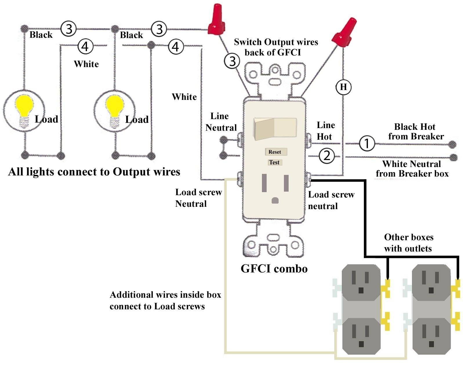 Unique Wiring Diagram Switch Outlet diagram