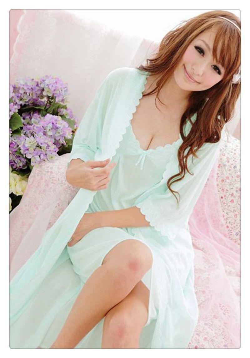 Women s silk Pajamas soft sleepwear comfortable 2 pcs Pajamas set Sexy  V-neck home wear new brand 2a578ae664