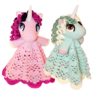 Unicorn / Pony Lovey Security Blanket pattern by Joni Memmott / BriAbby #securityblankets Ravelry: Unicorn / Pony Lovey Security Blanket pattern by Joni Memmott / BriAbby #securityblankets