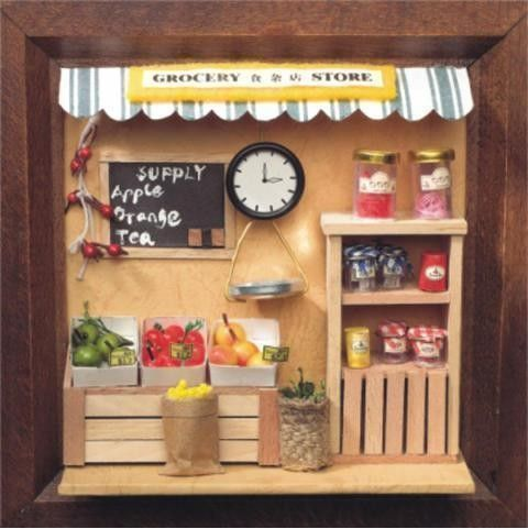 Home decor mini food model miniature groceries supermarket accessories dollhouse