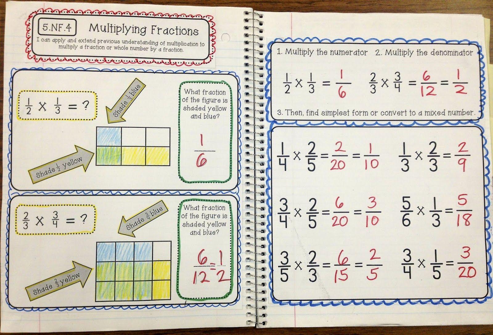 5th Grade Interactive Math Notebook Fractions Edition Create Teach Share Math Interactive Notebook Math Notebook Math [ 1088 x 1600 Pixel ]