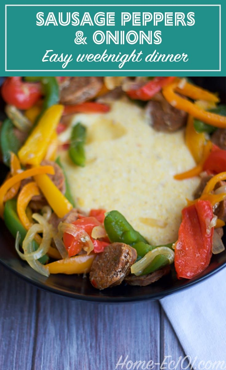 Simple sausage peppers and onions recipe recipe