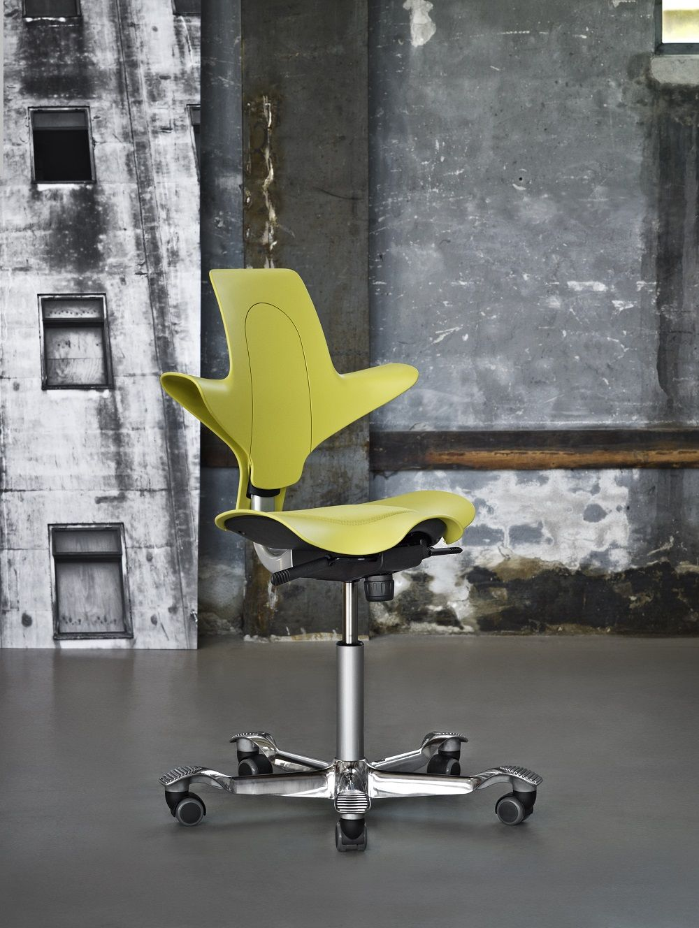 Hag Capisco Puls In Yellow Inspiregreatwork Design Scandinavian Inspiration Work Chair Chair Conference Chairs