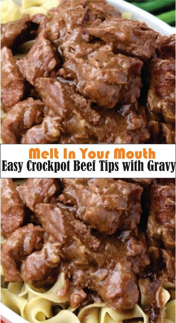 Photo of Easy Crockpot Beef Tips with Gravy