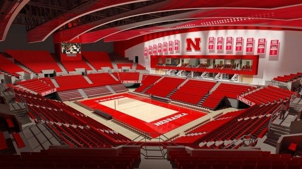 Devaney Sports Center Volleyball Nebraska Husker Nebraska Cornhuskers
