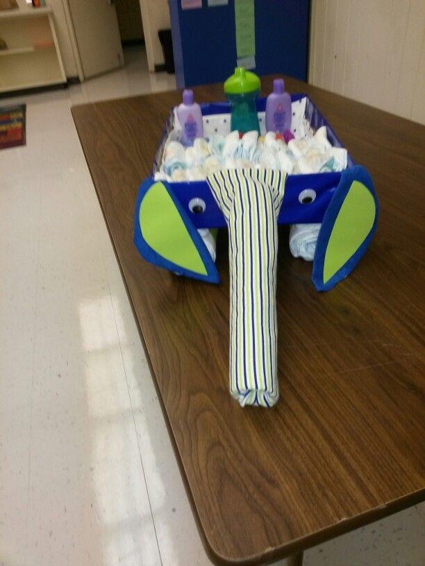 Elephant diaper wagon