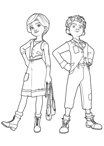 Félicie and Victor from Leap! Coloring page | Bailarina, la película ...