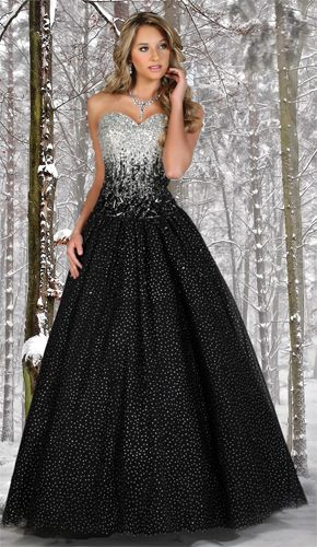 black and silver prom dresses