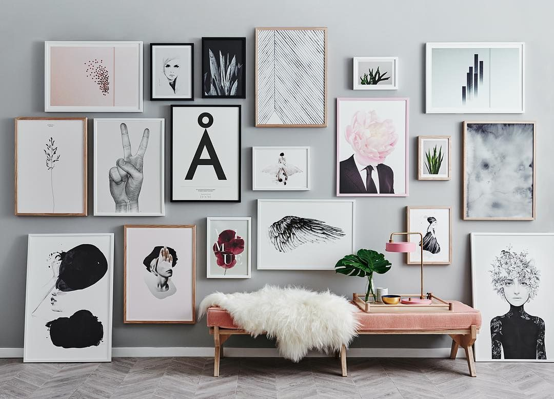 Such a beautiful wall of art from @norsuinteriors.   happy to see ...