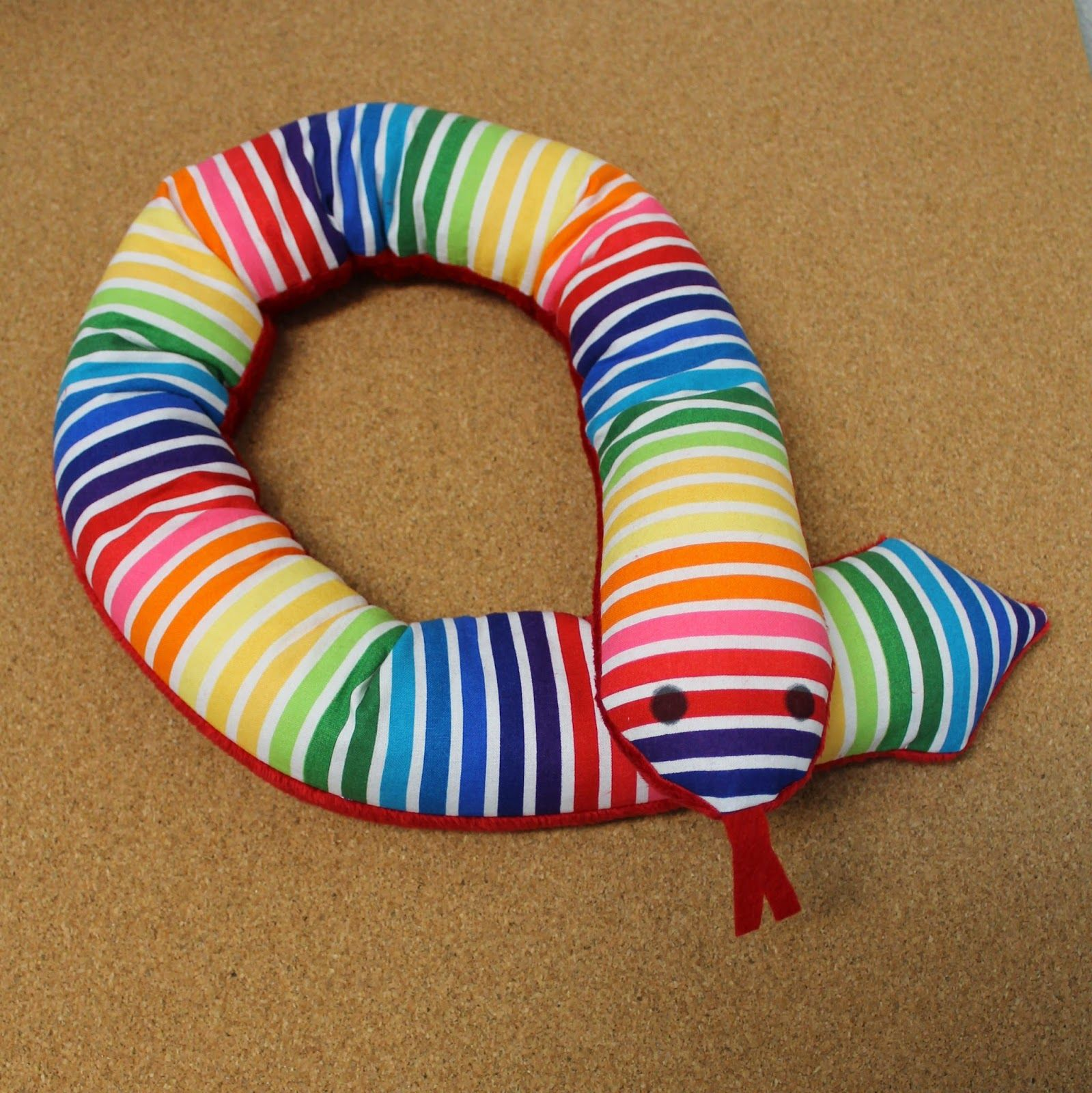 Make a weighted sensory snake to give fort to a child including