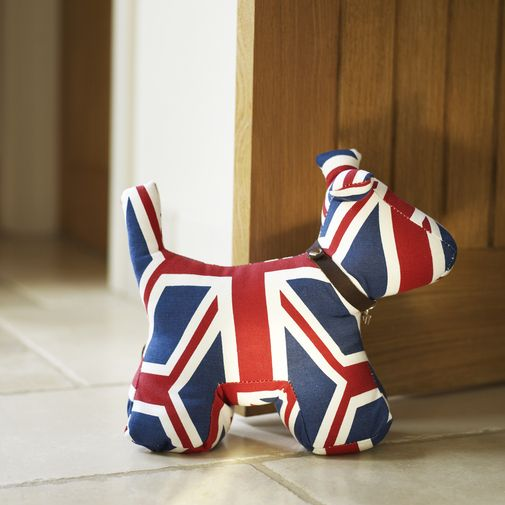 Union Jack Doggy Doorstop Poochtastic Also Comes In Pink Hard