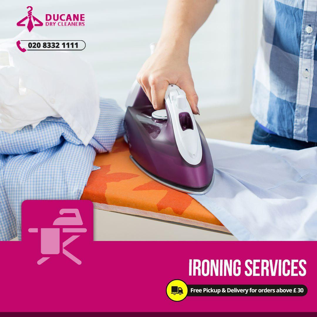 At ducane london we have a range of hand ironing services