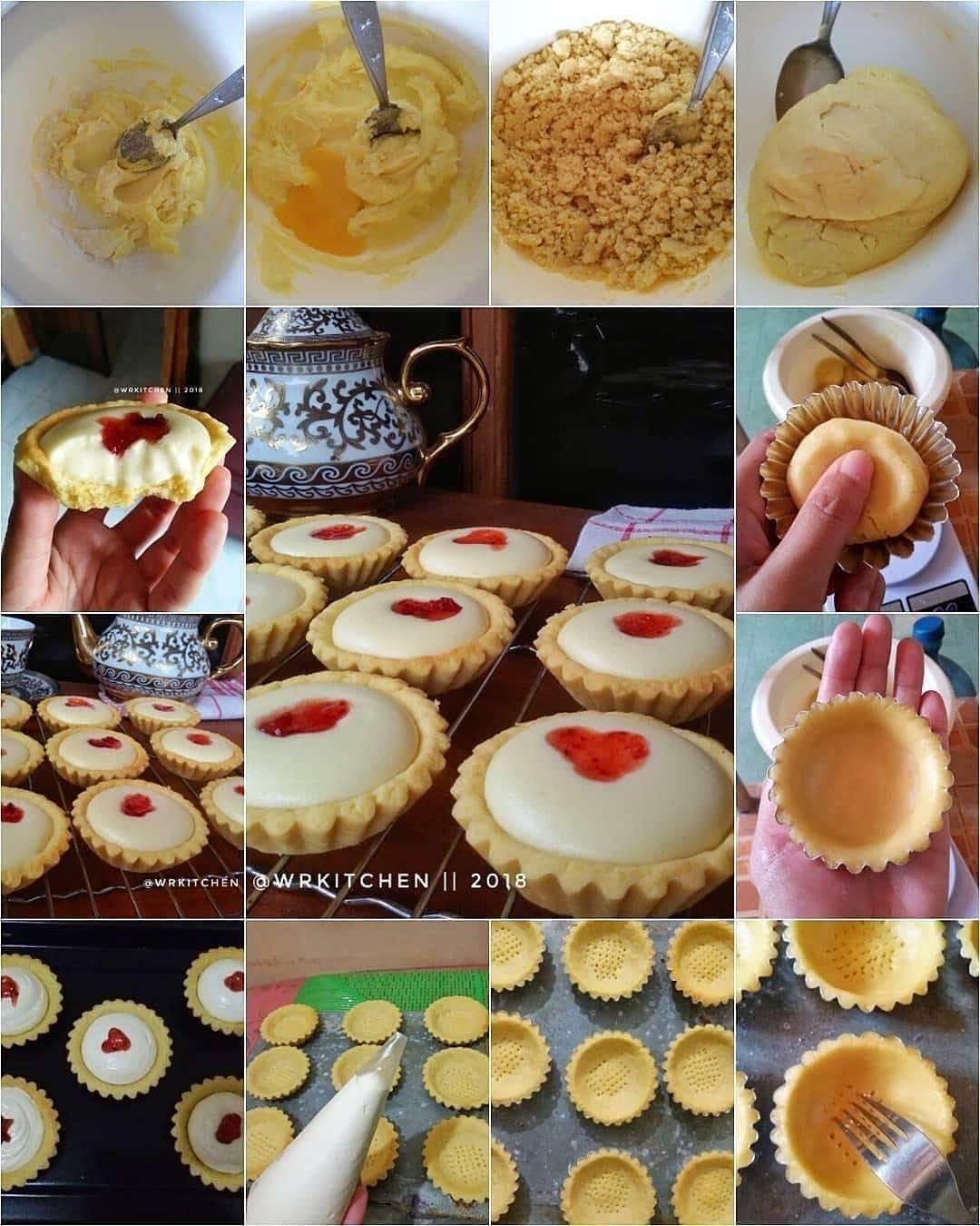 Aneka Resep Koki Nusantara On Instagram Jangan Lupa Tap Love Strawberry Cheese Tart By Wr Japanese Cheese Tart Bakery Cakes Cheese Tarts