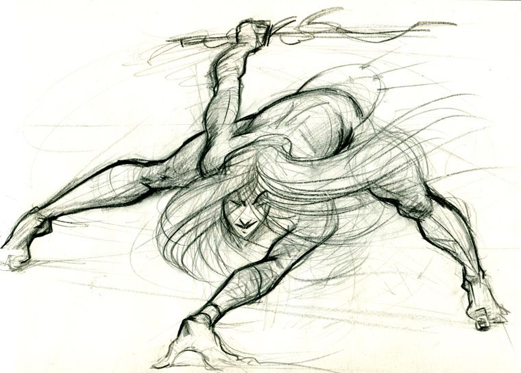 character sketch - dynamic pose by stepke