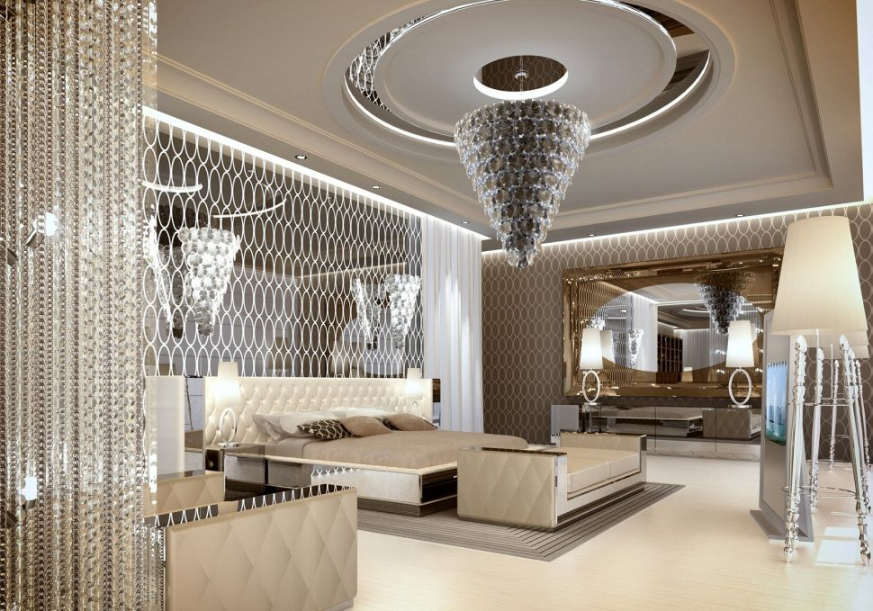 Bedroom:Surprising Luxury Modern Bedroom Chandeliers Feat Luxury Glass  Chandelier Ideas And With Low Bed