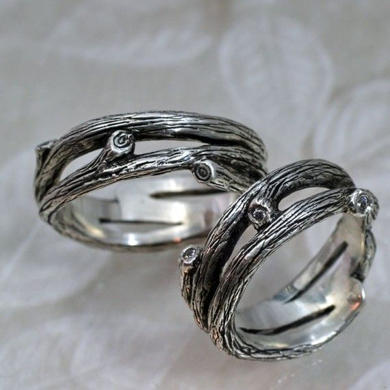 TANGLEWOOD Branch Wedding Band a Natural Twigs and Branches Ring