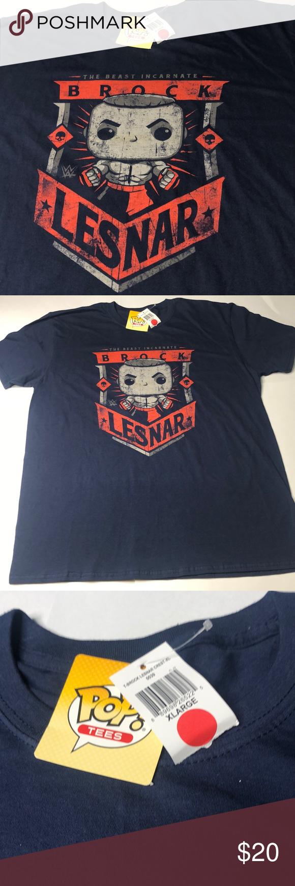 Nwt Brock Lesnar Pop T Shirt Wwe Mma Wwf Aew Ufc Clothes Design Pop T Fashion