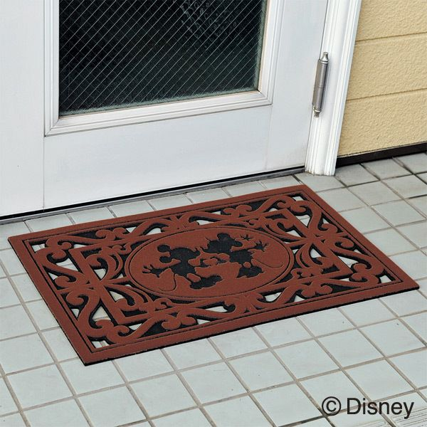 Disney 屋外用玄関マット ミッキー&ミニー Mickey And Minnie Door Mat On