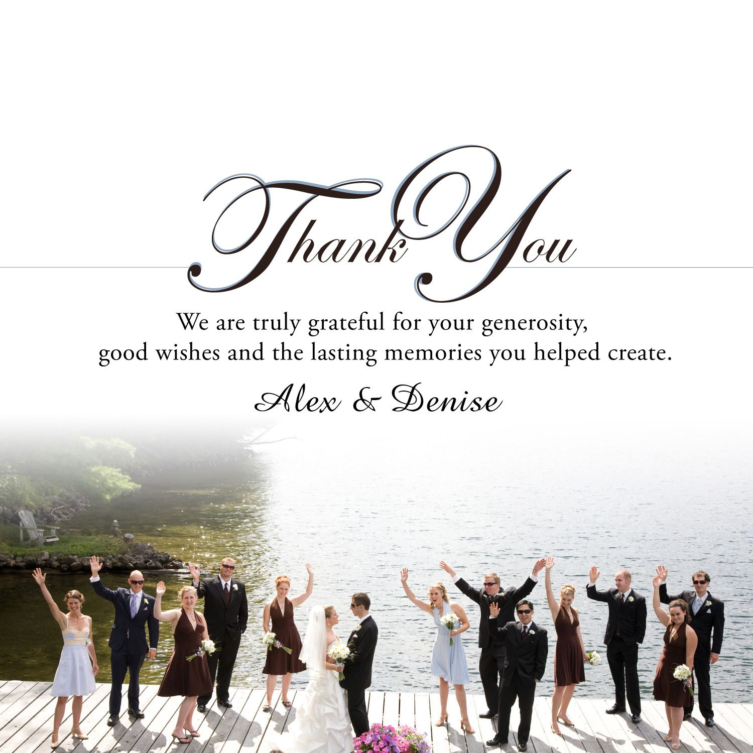 Thank you card template wedding gift
