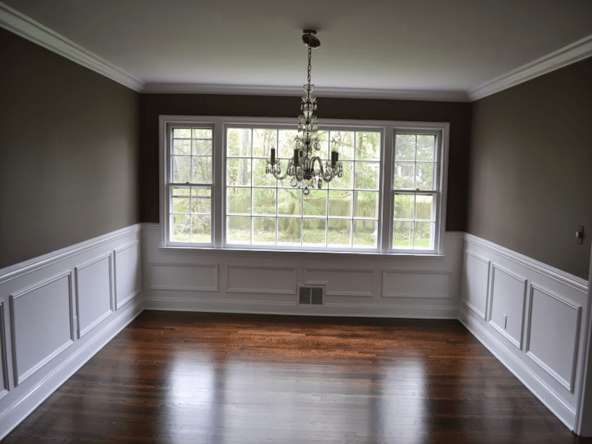 Crown Molding Chair Rail Dining Room Wall Trim Design ...
