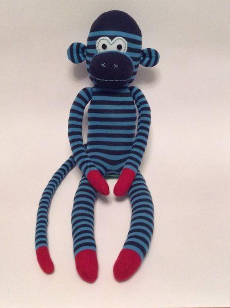 Socken+Affe+/+Sock+Monkey+/+Kuscheltier+-+Blau+von+Monkey+Business+ ...