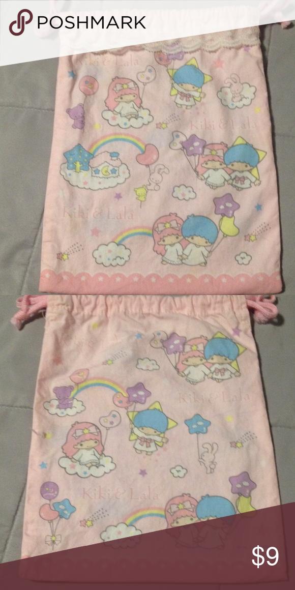fa1e431270 Sanrio Little Twin Stars Drawstring Bag Sanrio Little Twin Stars drawstring  bag with lace. Approximately 7-3 4