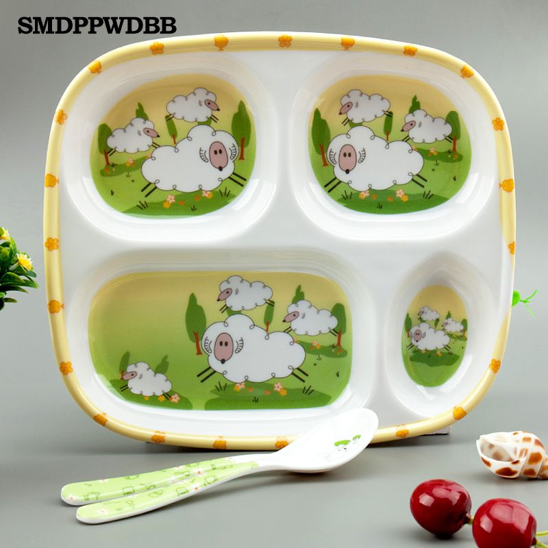 SMDPPWDBB Baby Plate Set Dishes Square Dinner Plate Sets For Newborn Wholesales Insulation Bowl Partition Dinnerware & SMDPPWDBB Baby Plate Set Dishes Square Dinner Plate Sets For Newborn ...