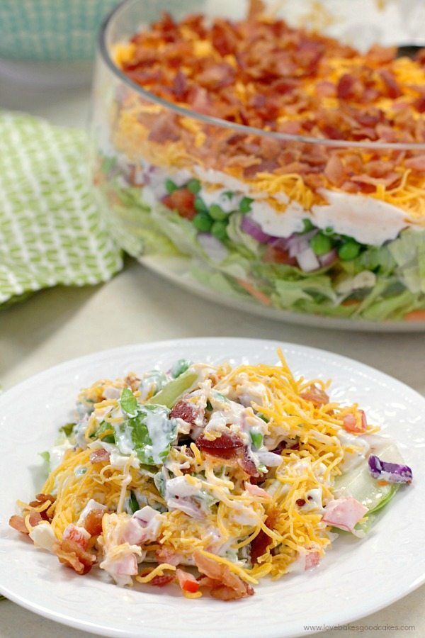 7 Layer Salad Recipe Layered Salad Recipes Layered Salad Seven Layer Salad