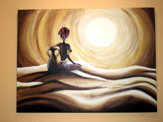 Mujer desierto  dibujos bonitos  Pinterest
