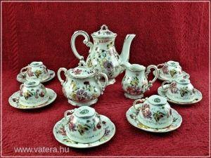 Zsolnay kávéskészlet pillangós - 63000 Ft