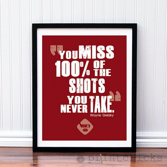 Hockey Poster Hockey Quote Print  Hockey NHL by PrintChicks, $22.00