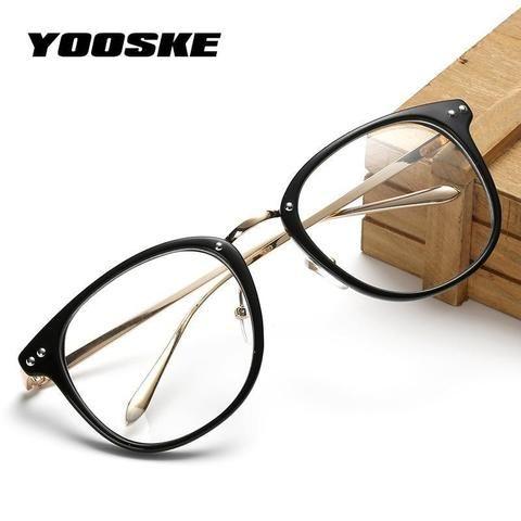 e8134a33a9 YOOSKE Fashion Oversized Glasses Transparent Men Women Retro Metal  Eyeglasses Frame Cleardresskily