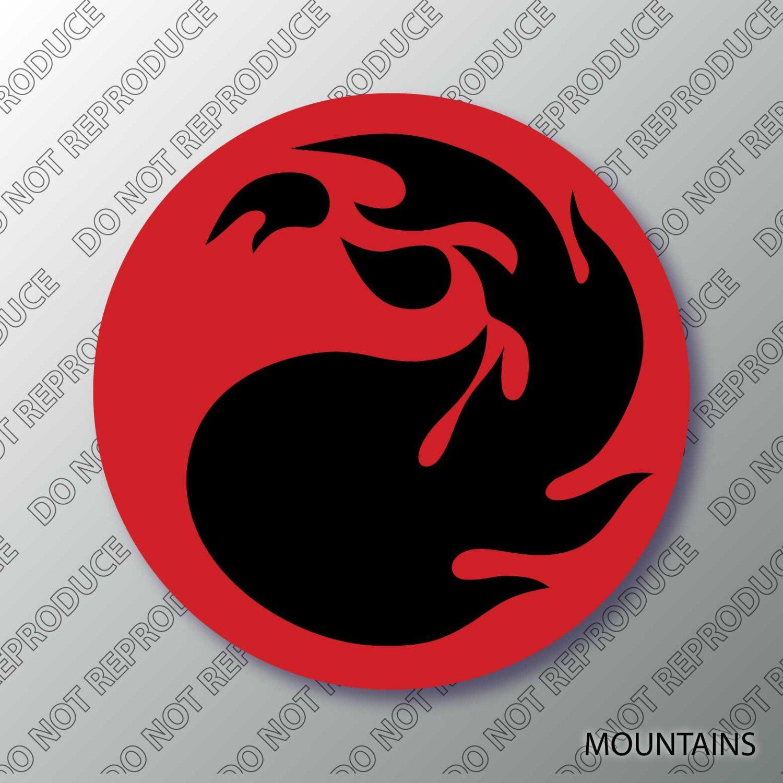 Mtg mountain mana symbol magic 2 color vinyl decal mtg mtg mountain mana symbol magic 2 color vinyl decal biocorpaavc